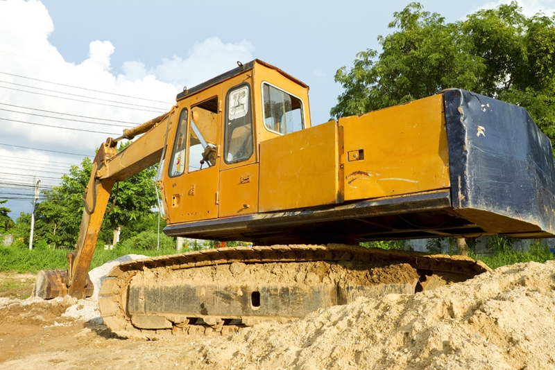 image of large excavator